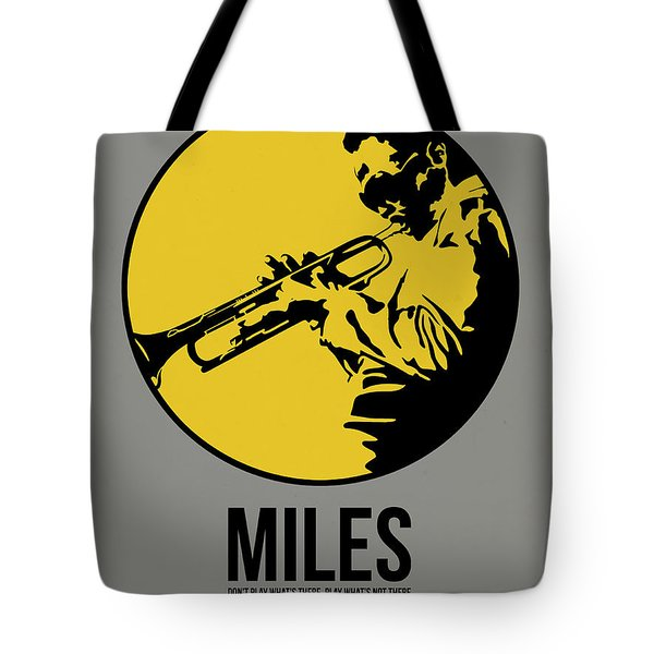 Miles Poster 3 Tote Bag by Naxart Studio