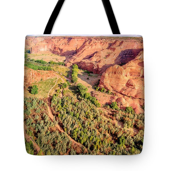 Miles To Go In Canyon De Chelly Tote Bag by Bob and Nadine Johnston