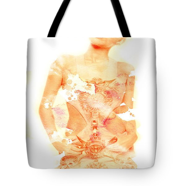 Tote Bag featuring the digital art Miley by Brian Reaves