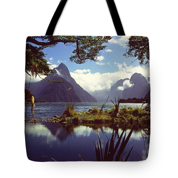 Milford Sound In New Zealand's Fiordland National Park Tote Bag by Alex Cassels