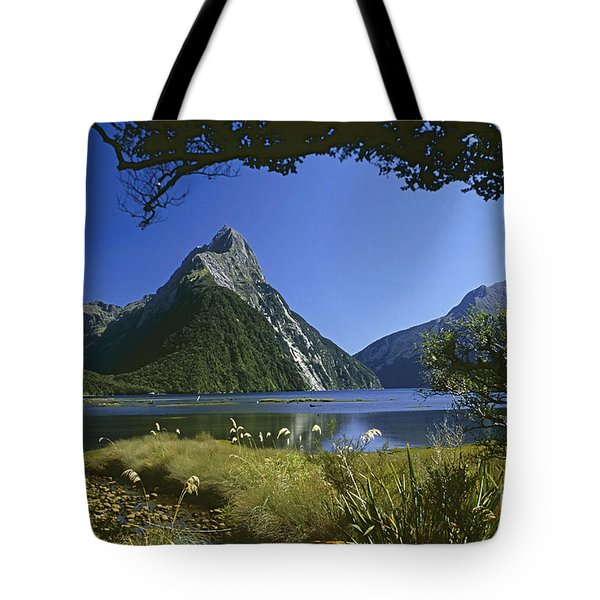 Tote Bag featuring the photograph Milford Sound  New Zealand by Rudi Prott