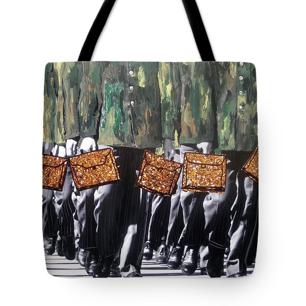 Tote Bag featuring the photograph Military Attache by Lesley Fletcher