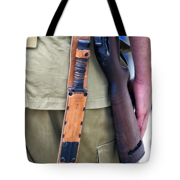 Military Small Arms 01 Ww II Tote Bag by Thomas Woolworth
