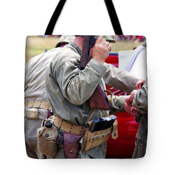 Military Small Arms 04 Ww II Tote Bag by Thomas Woolworth