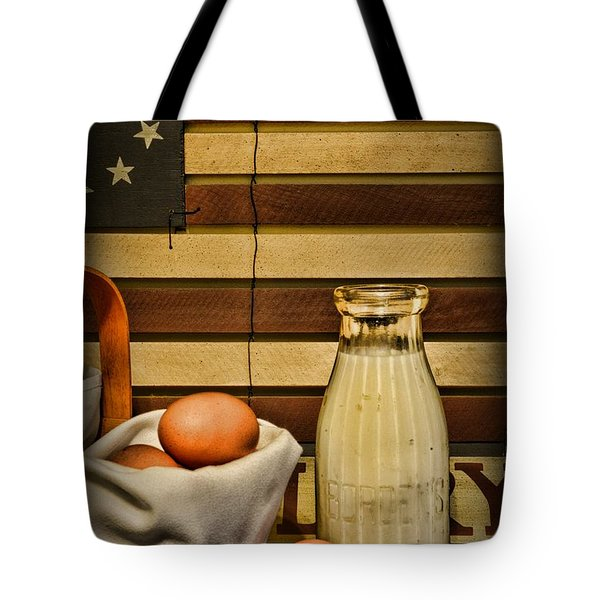 Milk And Eggs Tote Bag by Paul Ward