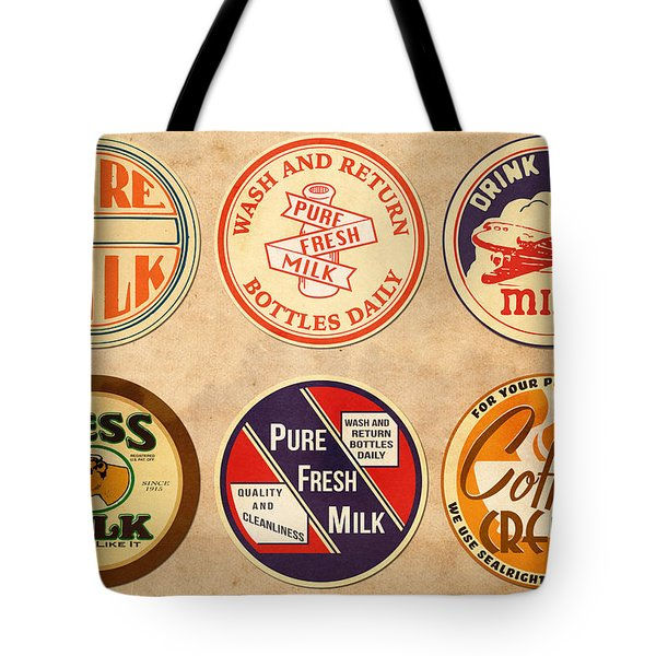 Milk Bottle Tops Tote Bag