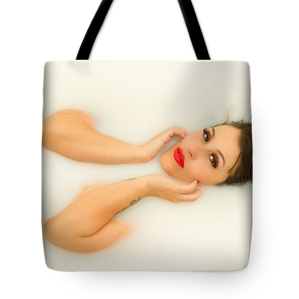 Milk Tote Bag by Marlo Horne