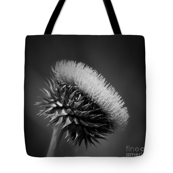 Milk Thistle Bw Tote Bag