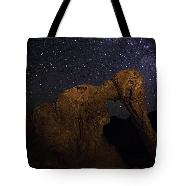 Tote Bag featuring the photograph Milky Way Over The Elephant 2 by James Sage
