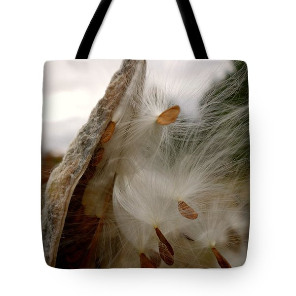 Tote Bag featuring the photograph Milkweed by Jacqueline Athmann