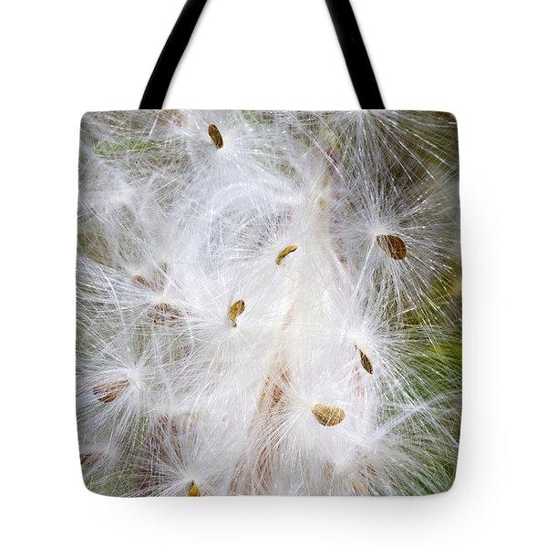 Milkweed Seeds And Fluff Tote Bag