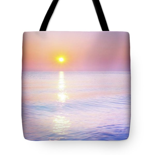 Tote Bag featuring the photograph Milky Sunset by Lilia D