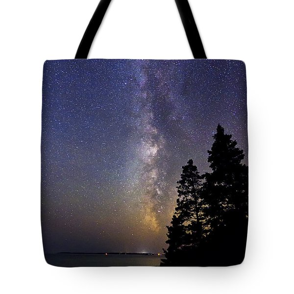 Milky Way At Acadia National Park Tote Bag