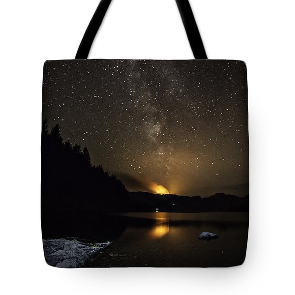 Milky Way At Crafnant Tote Bag