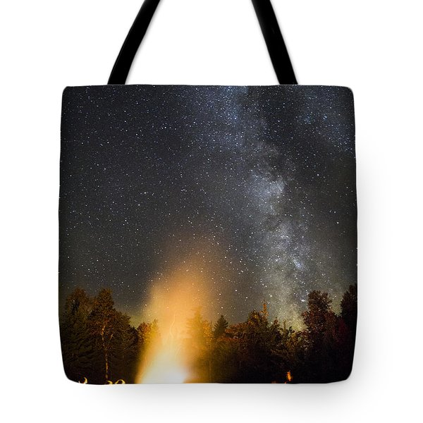 Milky Way At Flagstaff Hut Tote Bag