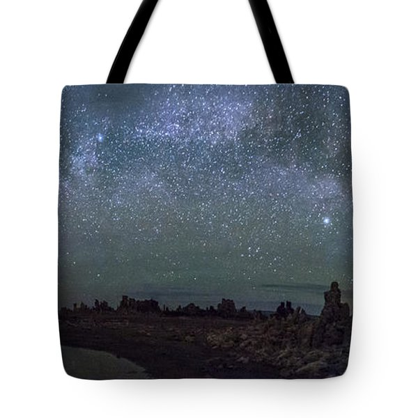 Milky Way At Mono Lake Tote Bag by Cat Connor