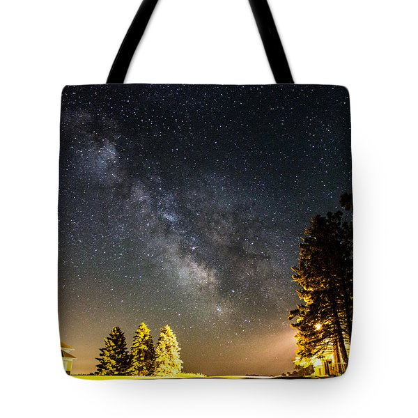 Milky Way From Oldham South Dakota Usa Tote Bag