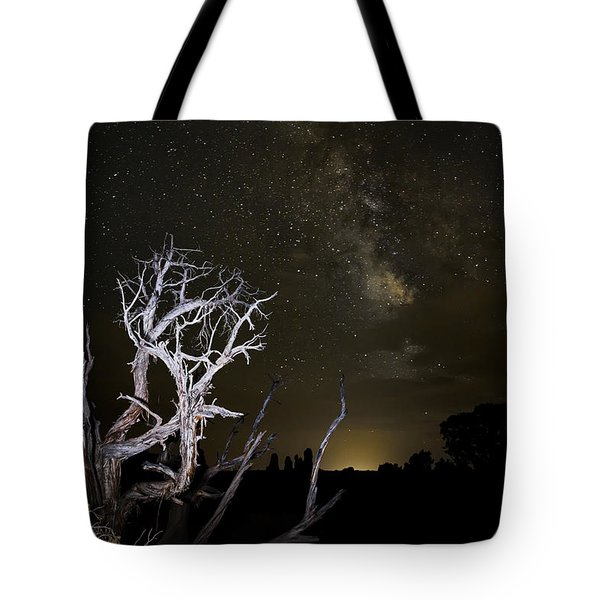 Milky Way Over Arches National Park Tote Bag by Adam Romanowicz