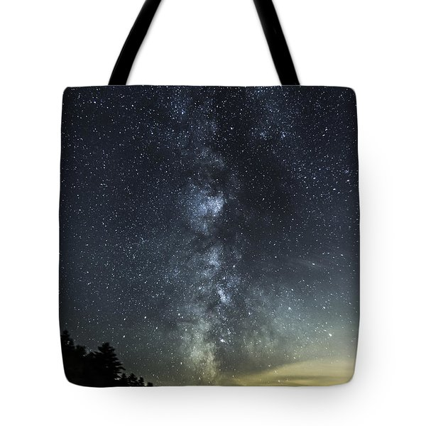 Milky Way Over Beaver Pond In Phippsburg Maine 2 Tote Bag