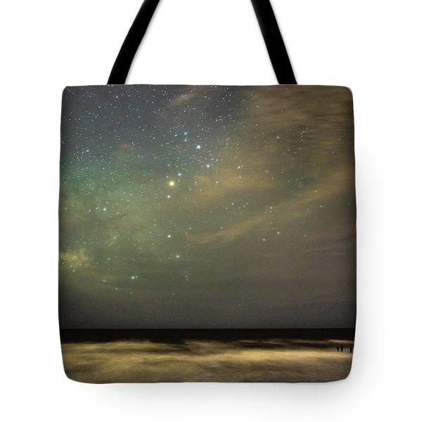 Milky Way Over Folly Beach Tote Bag
