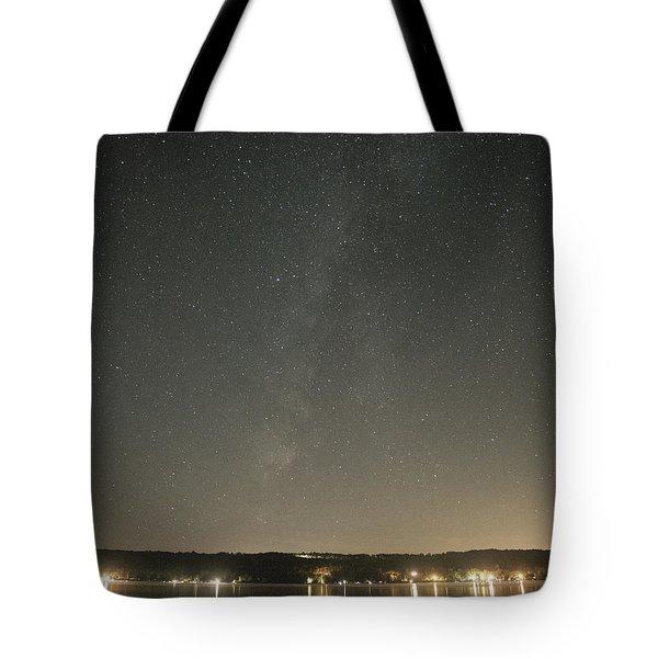 Milky Way Spills Into Conesus Tote Bag by Richard Engelbrecht