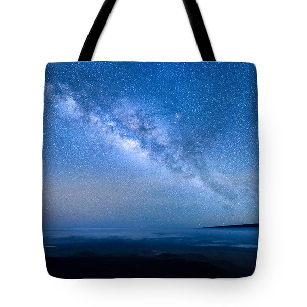 Milky Way Suspended Above Mauna Loa 1 Tote Bag