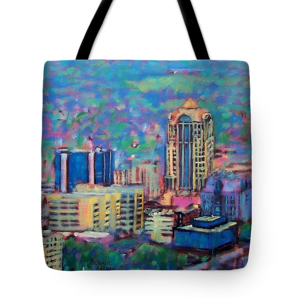 Mill Mountain View Tote Bag by Bonnie Mason