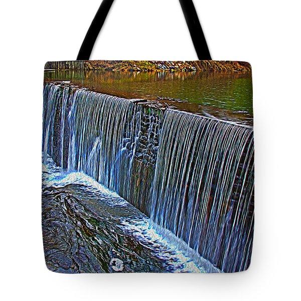 Mill Pond Spillover  Tote Bag