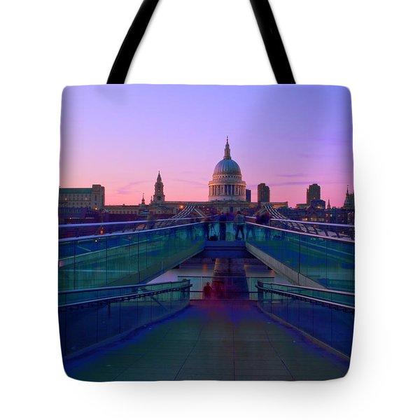 Millenium Thames Bridges  Tote Bag by David French