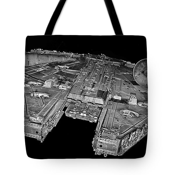Millennium Falcon Tote Bag by Kevin Fortier