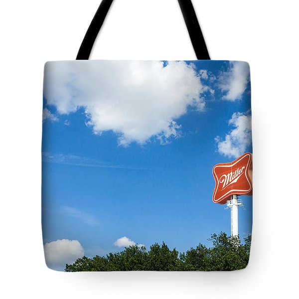 Miller Brewery Sign Tote Bag