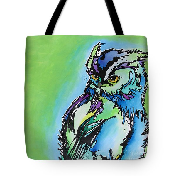 Tote Bag featuring the painting Million Dollar Man by Nicole Gaitan