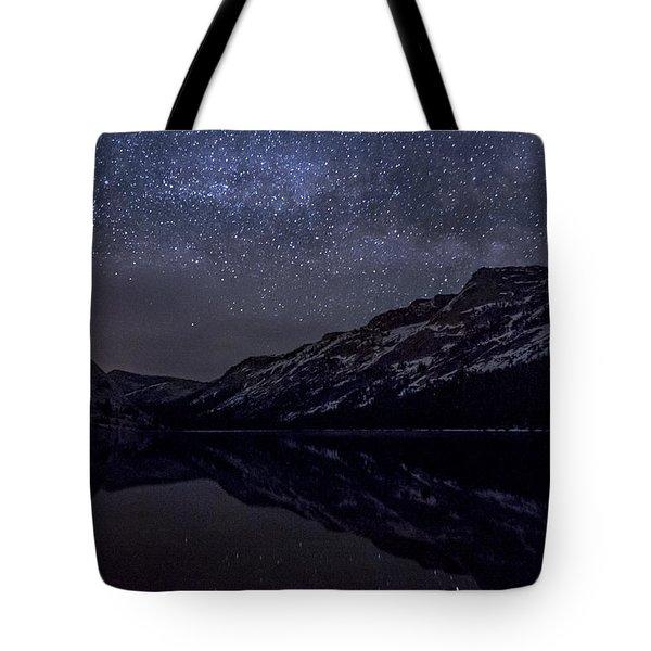 Millky Way Over Tenaya Lake Tote Bag by Cat Connor