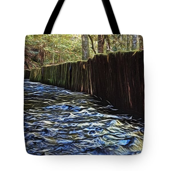 Millrace At Mingus Mill Tote Bag