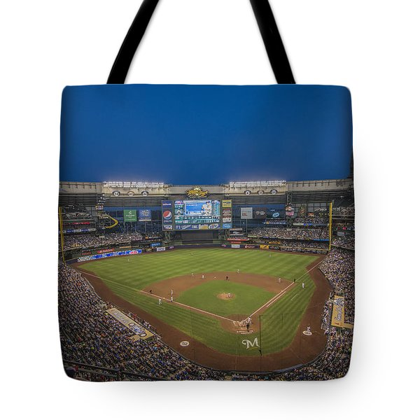Milwaukee Brewers Tote Bag by David Haskett
