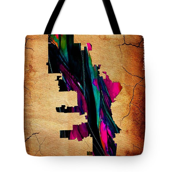 Milwaukee Map Watercolor Tote Bag by Marvin Blaine