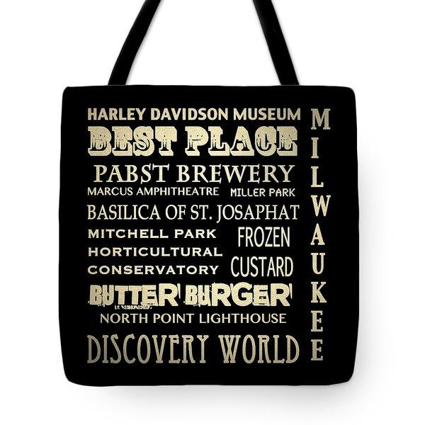 Milwaukee Wisconsin Famous Landmarks Tote Bag