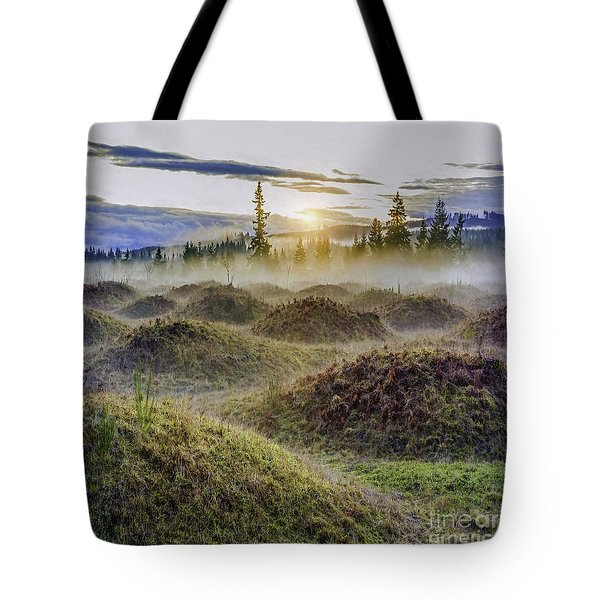 Mima Mounds Mist Tote Bag