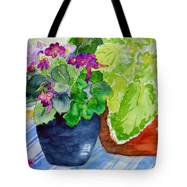 Mimi's Violets Tote Bag by Beverley Harper Tinsley