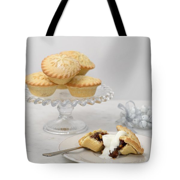 Mince Pies With Cream Tote Bag