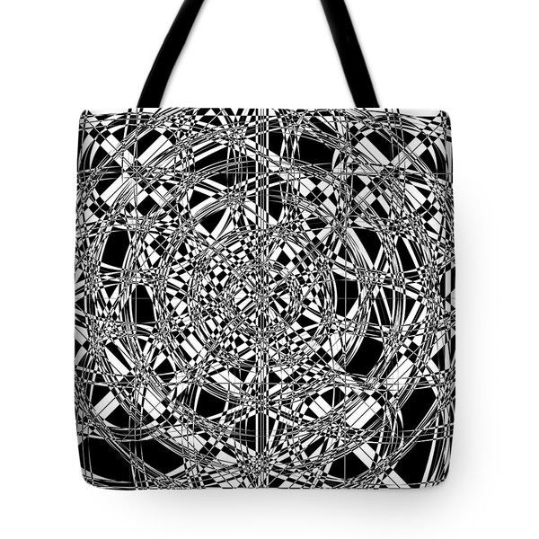 B W Sq 7 Tote Bag by Mike McGlothlen