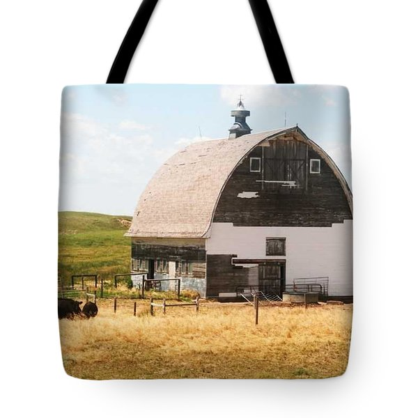 Minden Nebraska Old Farm And Barn Tote Bag by PainterArtist FIN