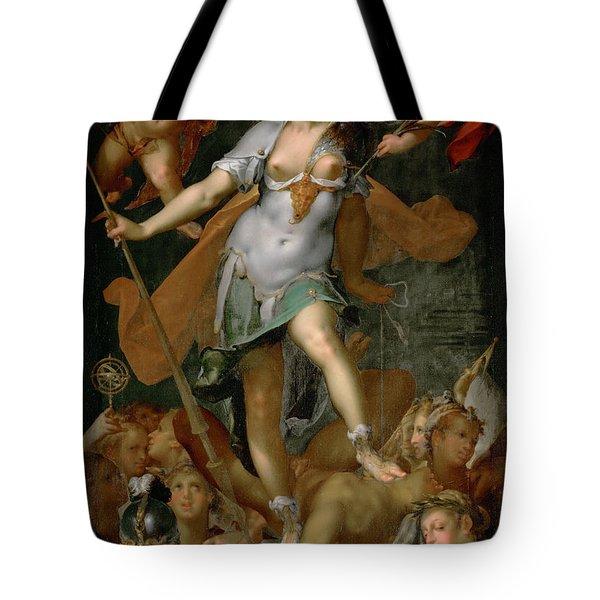 Minerva Victorious Over Ignorance Tote Bag