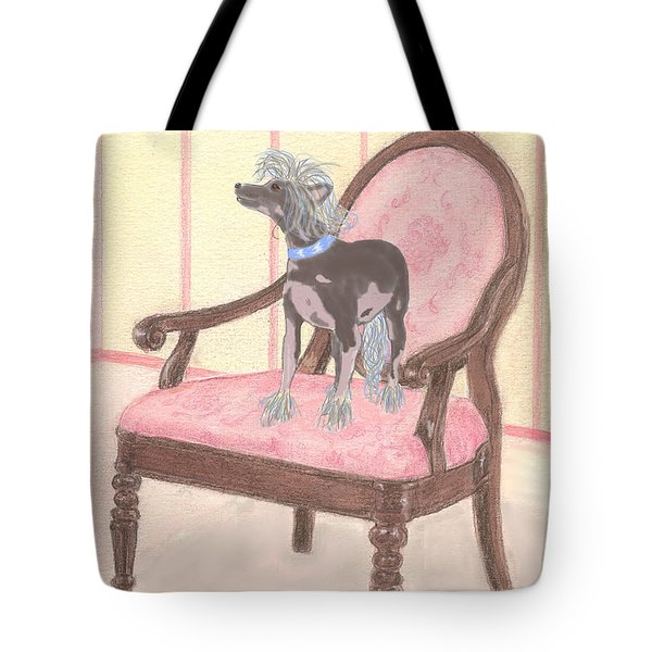 Tote Bag featuring the mixed media Ming by Stephanie Grant