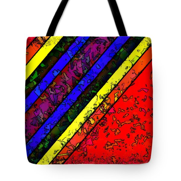 Mingling Stripes Tote Bag by Bartz Johnson