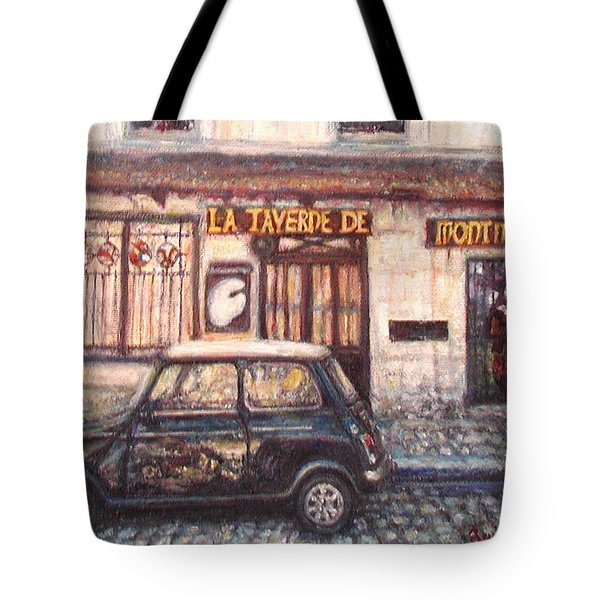 Mini De Montmartre Tote Bag by Quin Sweetman
