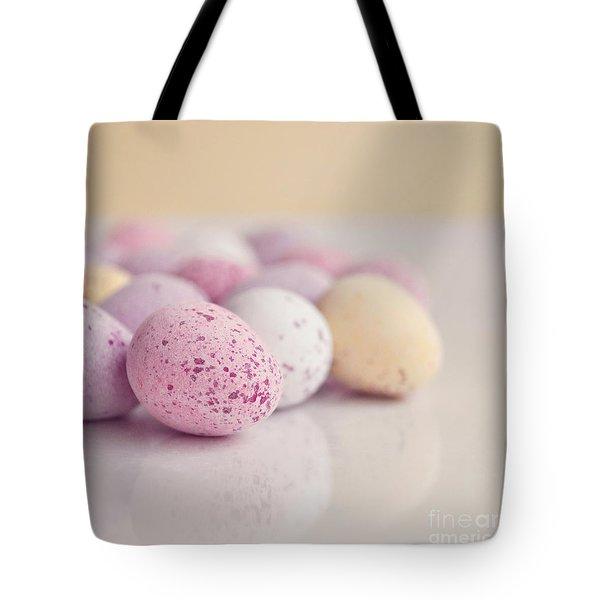 Mini Easter Eggs Tote Bag by Lyn Randle