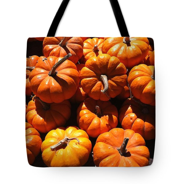 Tote Bag featuring the photograph Mini Fall Pumpkins by Denyse Duhaime