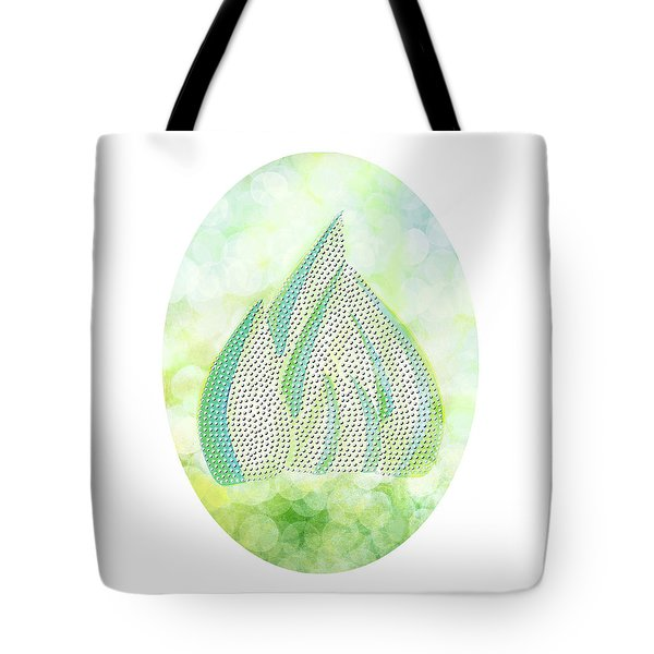 Tote Bag featuring the drawing Mini Forest Illustration by Lenny Carter