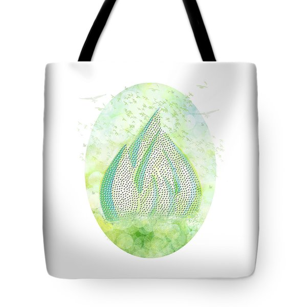 Tote Bag featuring the drawing Mini Forest With Birds In Flight - Illustration by Lenny Carter